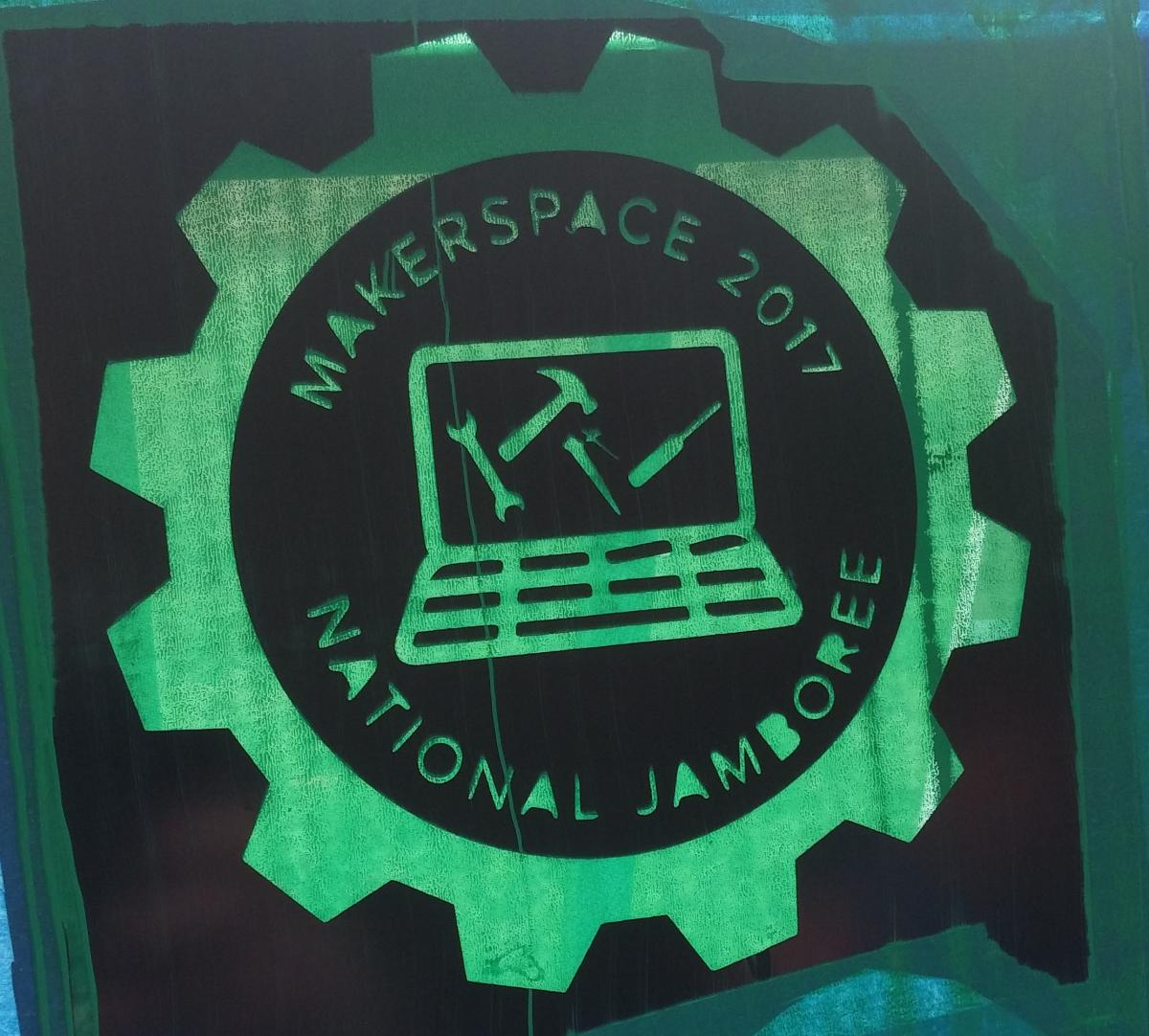 Makerspace Logo at National Jamboree